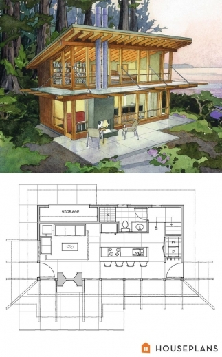 Wonderful 1000 Ideas About Small Modern House Plans On Pinterest Modern Modern Cottage At Base Of Squak Mountain Washington Floor Plan Photos