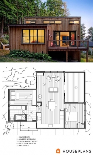 Wonderful 1000 Ideas About Small Modern House Plans On Pinterest Modern Modern Cottage At Base Of Squak Mountain Washington Floor Plan Picture