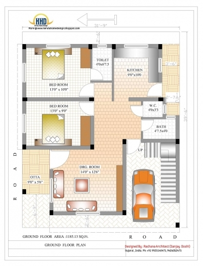 Wonderful 1500 Sq Ft House Plan Indian Design Home Designs Indian House Plans For 1500 Square Feet Pics