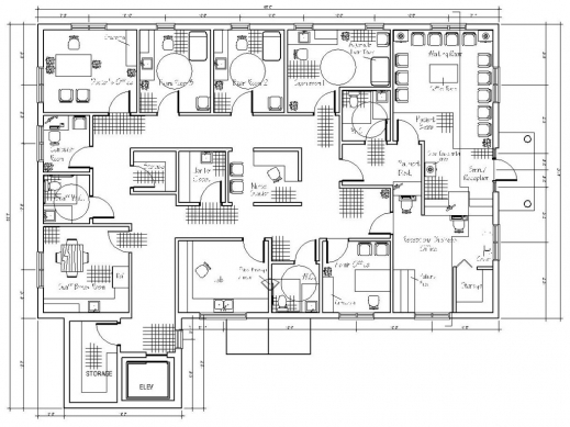 Auto cad 2d house plans with dimensions house floor plans for Autocad house plans