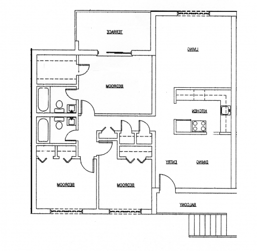 Wonderful Elegant House Plans Ghana 3 Bedroom House Plan For A Half Plot In A 3bedroom Home Plan On A Half Plot Image