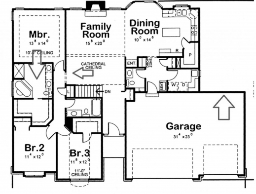 Wonderful Floor Plans For A 3 Bedroom 2 Bath House 3bedroom 2bath House Plans Images