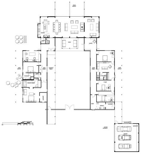 Wonderful Modern Single Story House Plans Floor Snowjetco Single Story Modern House Floor Plans Images