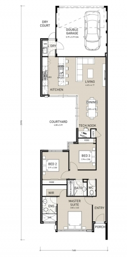 Amazing 1000 Ideas About Narrow House Plans On Pinterest Small Home Single Storey Kit Home Floor Plan Pic