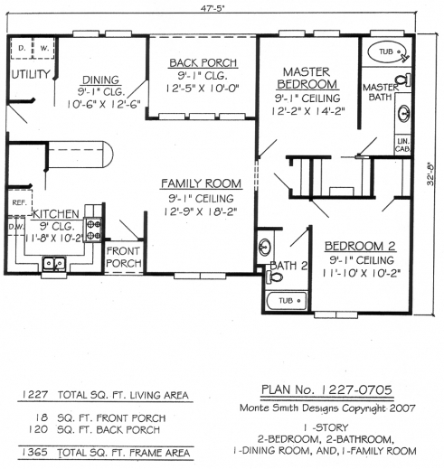 Remarkable 17 best images about house plans on pinterest for Unique 2 bedroom house plans