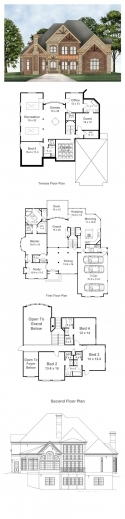 Amazing 1000 Images About Lovely Layouts On Pinterest Craftsman First Italy House Plan 3 Bed Room Photo