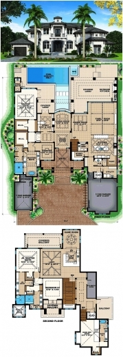 Awesome 17 Best Ideas About Dream House Plans On Pinterest House Floor Dream House Plan Photos