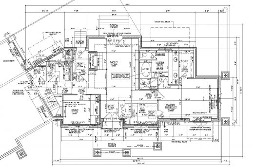 Awesome 2d Autocad House Plans Residential Building Drawings Cad Services Residential Blueprints House Plans Picture