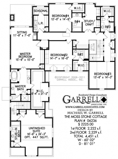 Awesome Moss Stone Cottage House Plan Plans Garrell Associates Home Stone Cottage House Plans Photo