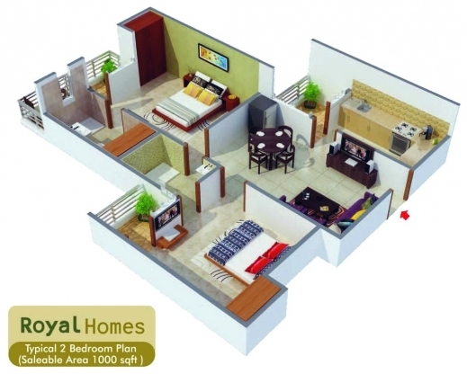 Best 1000 Sq Ft House Plans 2 Bedroom 1000 Sq Ft House Plan Indian Design Pictures