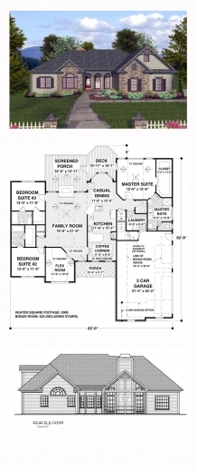 Best 78 Best Images About House Plans On Pinterest Craftsman Monster Italy House Plan 3 Bed Room Images
