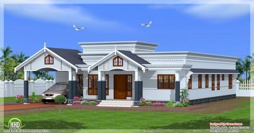 Best 78 Best Images About Kerala Flat Roofs On Pinterest House Design Kerala House Plans Single Floor Photos
