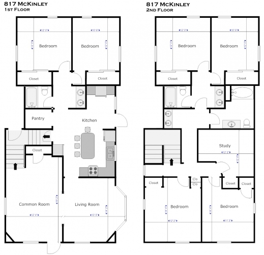 Residential blueprints house plans house floor plans for Residential blueprints