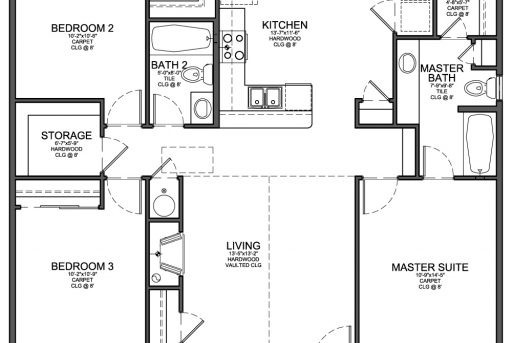 Best Floor Plan For Small 1200 Sf House With 3 Bedrooms And 2 2 Floor Home Plan 1200sf Pics