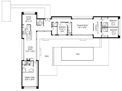 L Shaped 4 Bedroom House Plans Images U Shaped Courtyard