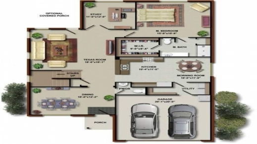 Best Modern One Level House Plans One Level House Plans With 2 Master 5 5 Bedroom 3D House Plans Photo
