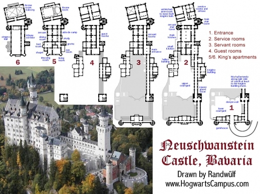 Delightful Detailed Floor Plans Of Neuschwanstein Castle And More Rpg Booster Fairy Tale Castle Floor Plans Picture
