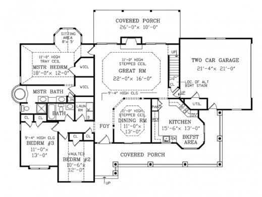 Delightful Houseplans Country Farmhouse Main Floor Plan Plan 456 6 Farmhouse Floor Plans Image