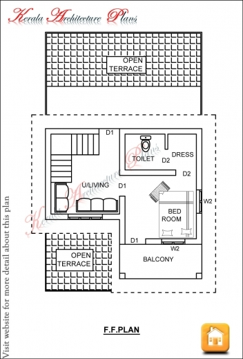 Delightful Kerala House Plans 1200 Sq Ft With Photos Khp 2 Floor Home Plan 1200sf Photo
