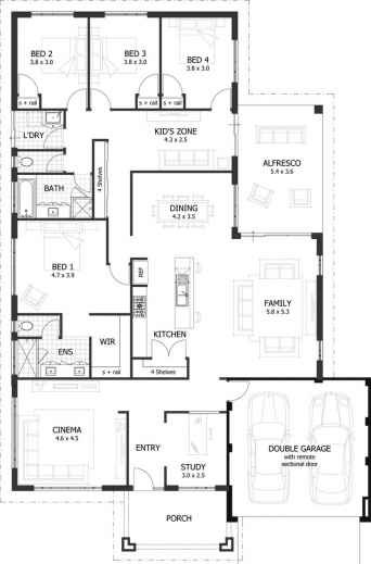 Unique 2 bedroom house plans house floor plans for Unique 3 bedroom house plans