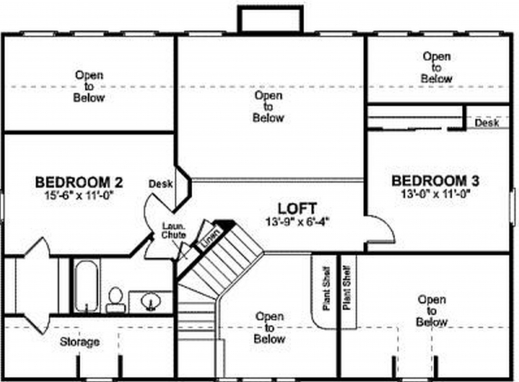 House plan on the drawing board plan 1333 houseplansblog 2 for Unique 2 bedroom house plans