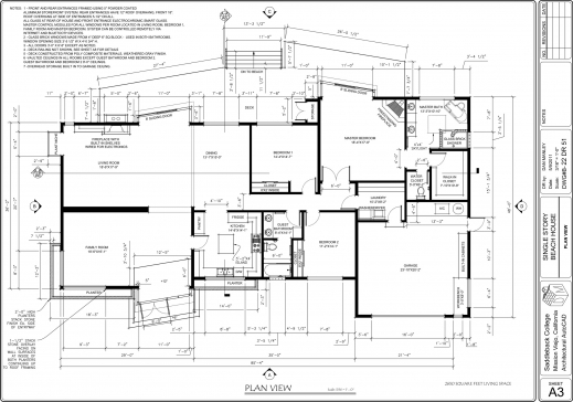 Fantastic Autocad 2d House Plan Tutorial Pdf Floorplan In Autocad 2d Photo