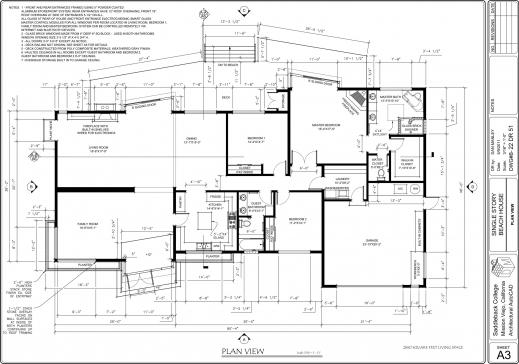 Fantastic Autocad 2d House Plan Tutorial Pdf Floorplan In Autocad 2d Photo