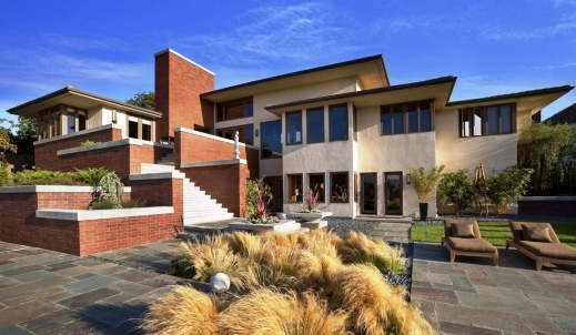 Fascinating Huge Luxurious Home Design With Natural Bricks Exterior In Images Of Big Luxurious Houses And Plans Photo