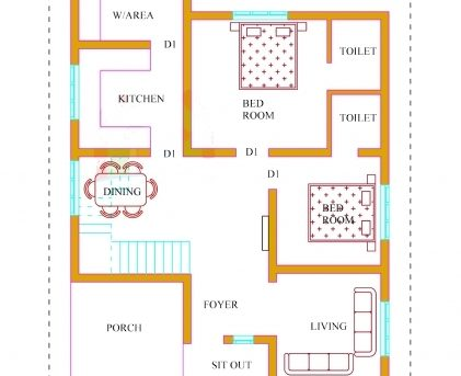 Fascinating Kerala House Plans With Estimate 20 Lakhs 1500 Sqft Plan Home Design Kerala Pictures