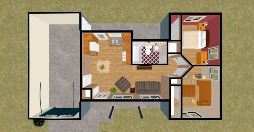 Gorgeous 1 Bedroom House Plans 500 Sq Ft Planskill One Bedroom House Plans Picture