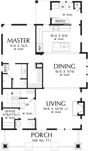 Gorgeous 17 Best Images About Floor Plans On Pinterest Prairie School Simple Floor Plan Of A Bungalow House Photo