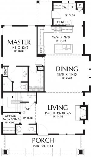 Gorgeous 17 Best Images About Floor Plans On Pinterest Prairie School Simple Floor Plan Of A Bungalow House Photo