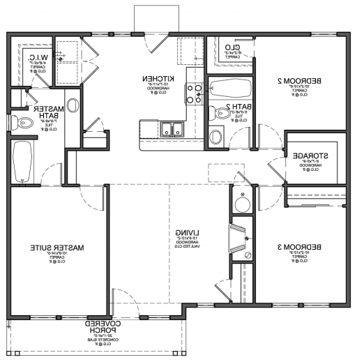 Outstanding 1 200 sf house plans 1200 square feet with 2 for One bedroom house plans with photos