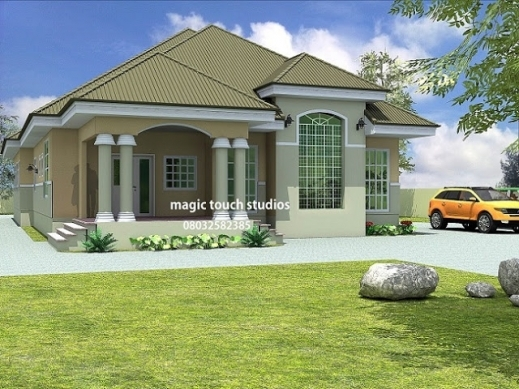 Incredible 4 Bedroom House Plans In Ghana Home Design Ideas Bungal Planskill Ghana House Plans With Photos Photo