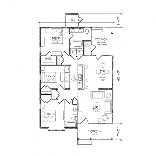 Incredible Carson Ii Bungalow Floor Plan Tightlines Designs Simple Floor Plan Of A Bungalow House Pic