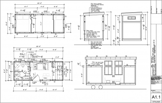 Incredible Complete Qai Certified To Csa Z240rv 8x20 Steel Frame 1br 1ba 8 By 20 Floor Plan Pics