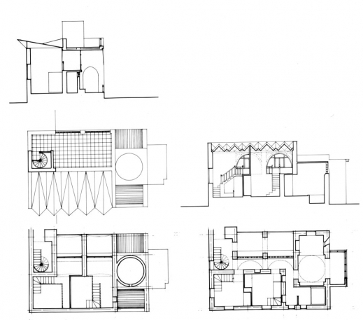 Elevation Plan Section : Incredible design drawing sleeping area plans section