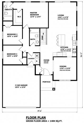 Incredible Sample Bungalow House Floor Plan Simple Floor Plan Of A Bungalow House Image