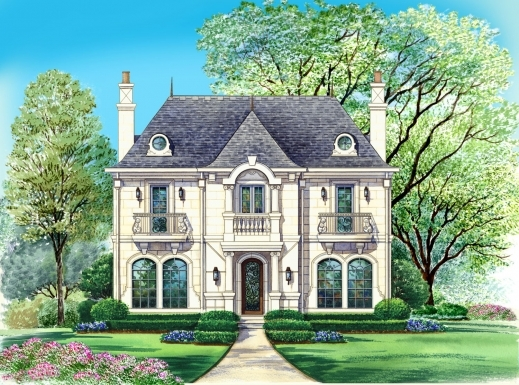 Inspiring french country house plans top amazing cottage for Modern french country house plans