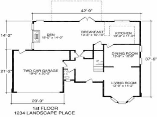 Inspiring Simple House Floor Plan With Measurements Simple House Floor Plan With Measurements Picture
