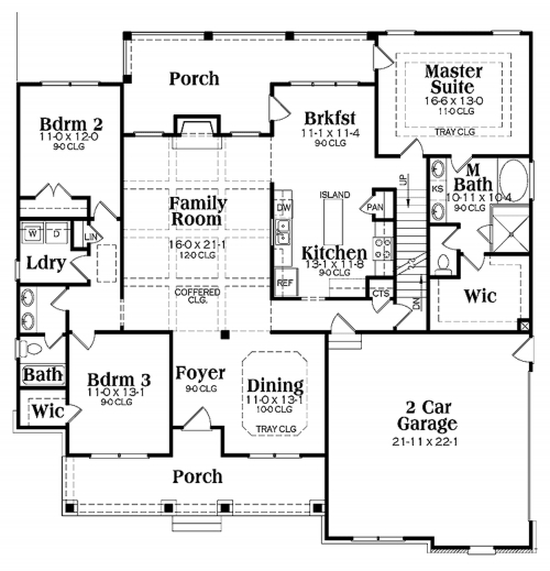 Marvelous 2 Story Bungalow House Plans Bedroom Floor Plan With Wrap Around Big Picture