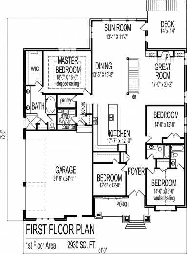Marvelous 4 Bedroom Luxury Bungalow House Floor Plans Architectural Design 1 One Room Bungalow Floor Plans Images Images