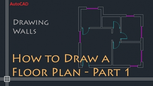 Marvelous Autocad 2d Basics Tutorial To Draw A Simple Floor Plan Fast And Floorplan In Autocad 2d Image