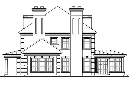 Marvelous Edgewood 30 313 Estate Home Plans Associated Designs A Complete House Plan With It Elevation Pics