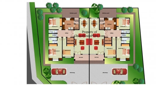 Marvelous Ghana House Plans Ohenewaa House Plan 3 Bedroom Detached Ghana Plan Photos
