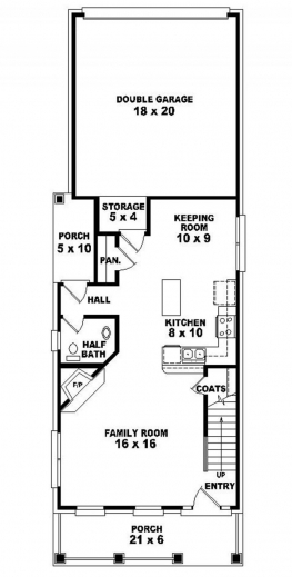 Marvelous House Plans For Narrow Lots Home Design Ideas Narrow Lot Home Plan Images