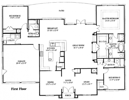 Marvelous Simple One Story House Plan House Plans Pinterest House House Plans With Photos One Story Image