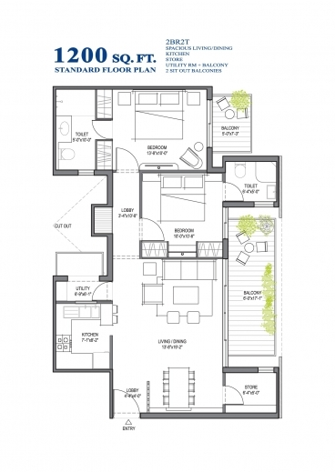 Outstanding 1 200 Sf House Plans 1200 Square Feet With 2 Bedrooms Home Lrg 2 Floor Home Plan 1200sf Photos