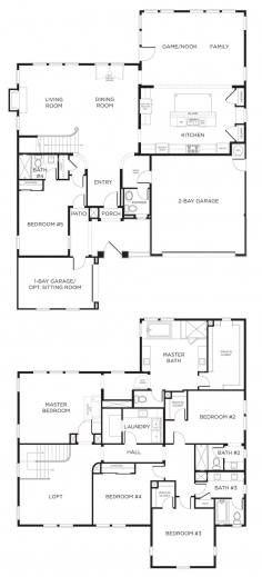 Outstanding 17 Best Ideas About 5 Bedroom House Plans On Pinterest Country 5 Bedroom House Plans With Bonus Room Pictures