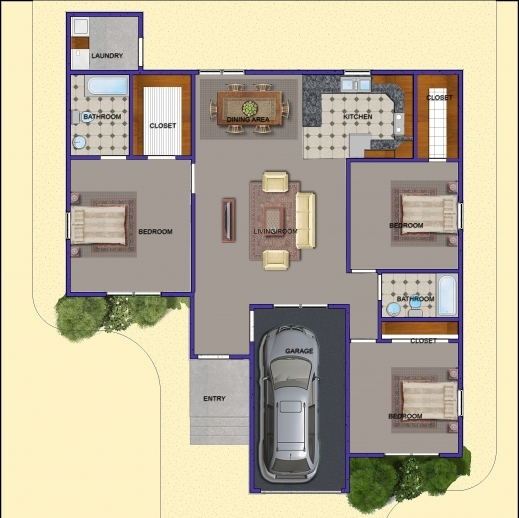 Outstanding Image Of 3 Bedroom Plan 3 Bedroom Plans Image